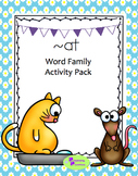 Word family 'at' write-the-room activity pack freebie