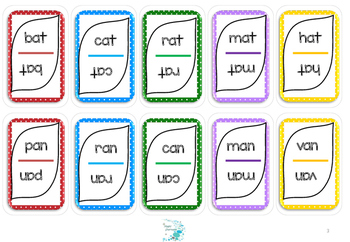 Word family game card set