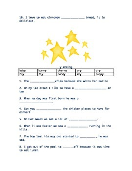 Word family sentence fill-in