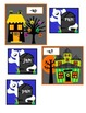 Word family sorting cards for pocket chart - short A set. Halloween house theme