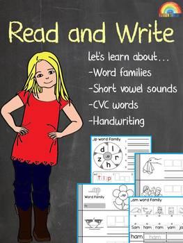 Word family wheel / CVC words / Short vowels / Handwriting