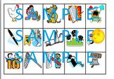 Word family word sort with pictures for -eg, -et, -en, -ell, -est