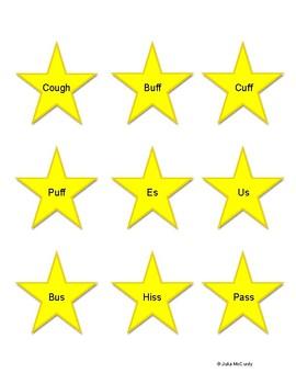 Word final CVC F and S stars