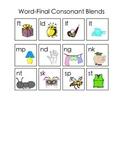 Word-final blends anchor chart