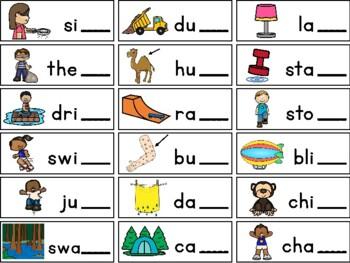 Word-Final Blends Phonics/Language/Speech Activity