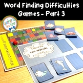 Word finding difficulties and word retrieval difficulties games Part 3