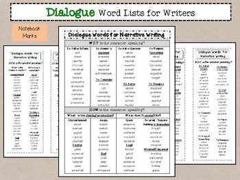 Word Lists for Writers Bundle