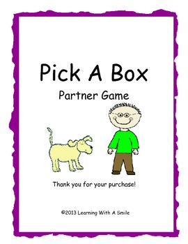 Word Fun for Grade 1!  Pick a Box Partner Game- Great Literacy Center Activity!