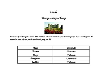 Word grouping- castle