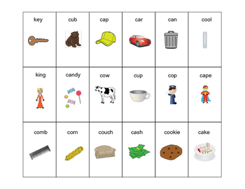 "Word- inital /k/ and Categories for ""Don't Break the Ice"" Speech Therapy"