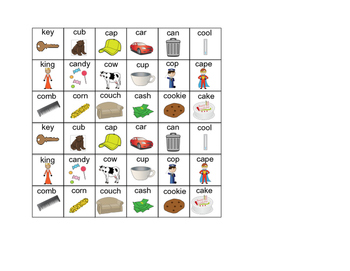 """Word- inital /k/ and Categories for """"Don't Break the Ice"""" Speech Therapy"""