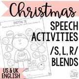 Word initial s, l, r blends- Christmas Speech Sound Worksh