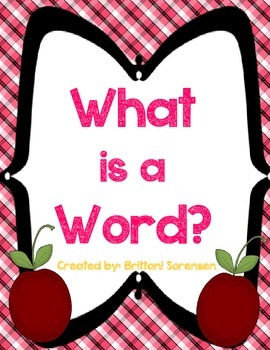 "Concepts of Print: ""Word is a Word? Letter? Number?"" Sort and Activity"