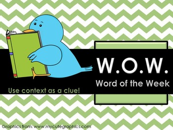 Word of The Week Warm Up- Context Clues