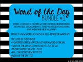 Word of the Day #1 Bundle - Middle School