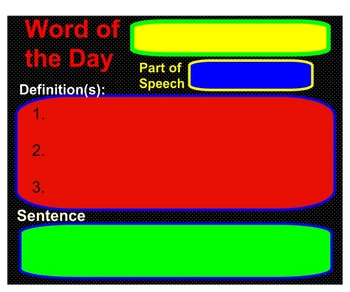 EDITABLE Word of the Day