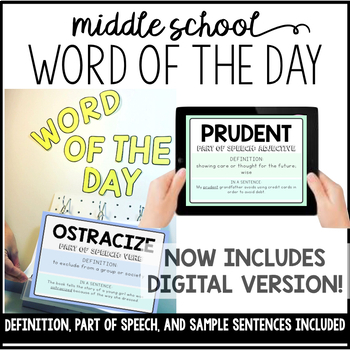 Word of the Day: Middle School Vocabulary