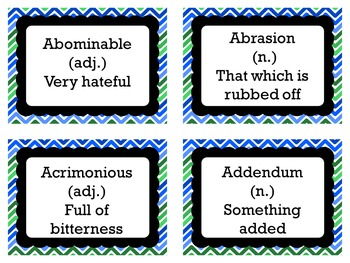 Word of the Day {200 Vocabulary Terms}