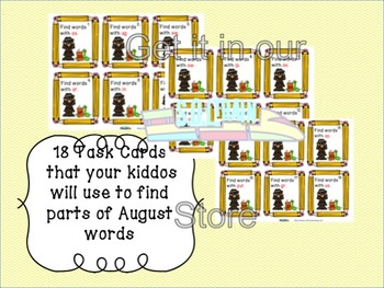 Word of the Day August Word Crumbs Game