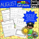 Back to School  Vocabulary, Sight Words and Phonics Cut an