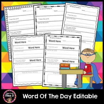 Word of the Day Editable