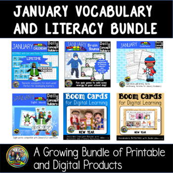 January Word of the Day Vocabulary Bundle