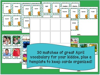 April Word of the Day Memory Game