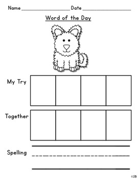 Daily Short & Long Vowel Writing Practice