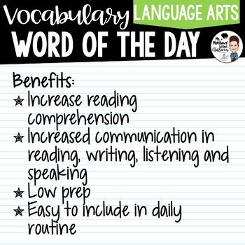 Word of the Day - Alberta's Grade 6 Vocabulary