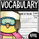 Word Of The Day April Vocabulary Printables For The Primary Classroom