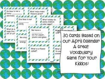 April  Word of the Day Vocabulary Game