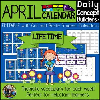 April Vocabulary Word of the Day Calendar
