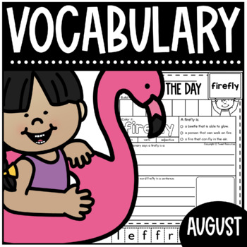 Word Of The Day August Vocabulary Activities for Primary Classrooms