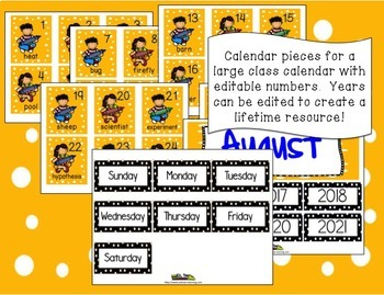 Word of the Day August Lifetime Calendar
