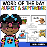 Word of the Day Journal | August and September | Back to School
