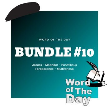 Word of the Day - Bundle #10