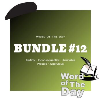 Word of the Day - Bundle #12