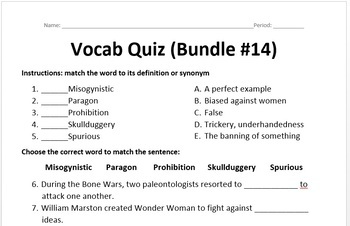Word of the Day - Bundle #14