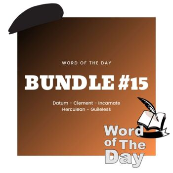 Word of the Day - Bundle #15