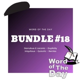 Word of the Day - Bundle #18