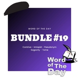 Word of the Day - Bundle #19
