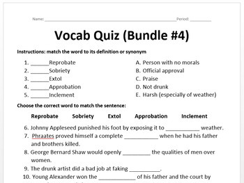 Word of the Day - Bundle #4