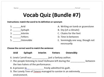 Word of the Day - Bundle #7