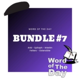 Word of the Day - Week #7