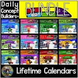 Vocabulary Calendar Bundle for Kindergarten and First Grade