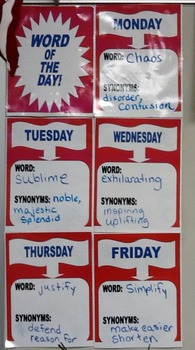"""Word of the Day"" Daily Journal, Creative Writing and Vocabulary Strategy"