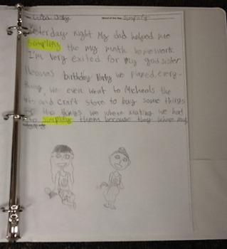 """""""Word of the Day"""" Daily Journal, Creative Writing and Vocabulary Strategy"""