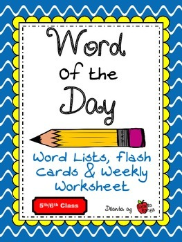 Word of the Day - English Vocabulary - 200 words (all year) - 5th / 6th Class