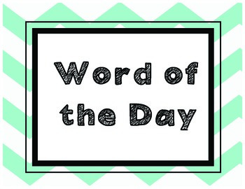 Word of the Day FREEBIE