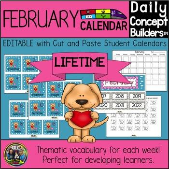 Valentine's  Day Vocabulary Calendar